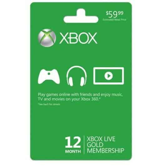 Xbox Live 12-Month Gold Membership $39.99 **Back in Stock**