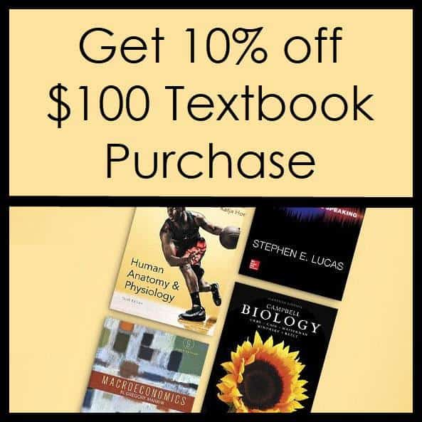 Amazon: Get 10% off a $100 Textbook Purchase