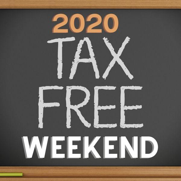 2020 Tax Free Weekends