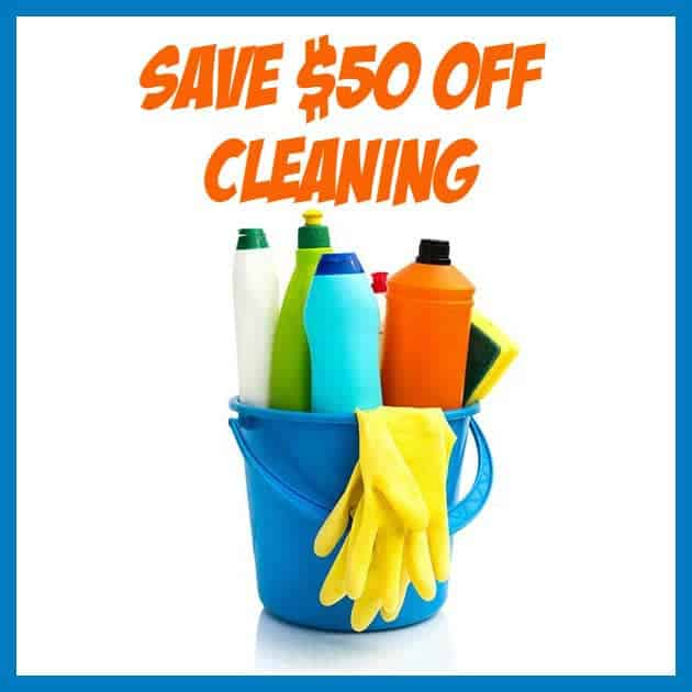 Save $50 off Your First TWO Cleaning Services from Amazon