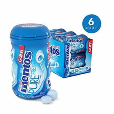 6 Pack of Mentos Pure Fresh Sugar-Free Chewing Gum (50 Count) Only $8.96