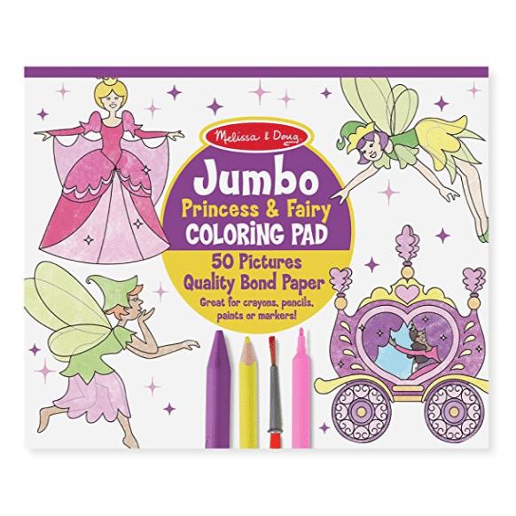 Melissa & Doug Princess & Fairy Jumbo Coloring Pad Only $4.99 (Was $17.19)