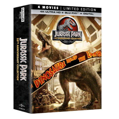 Jurassic Park 25th Anniversary Collection on Blu-ray Only $19.99 (Was $79.98)