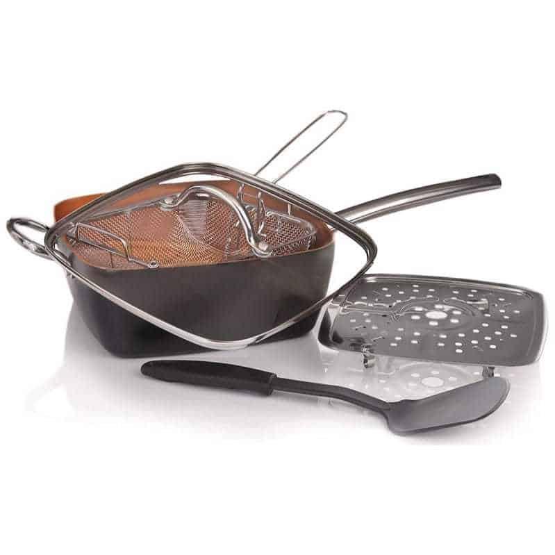 Willow & Everett 5 Piece Copper Pan Cookware Set Only $21.99