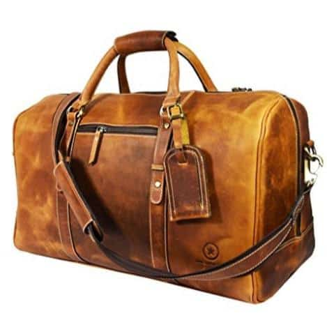 Up to 65% Off Premium Leather Duffle Bags by Aaron Leather **Today Only**