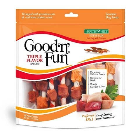 Good'n'Fun Triple Flavored Rawhide Kabobs for Dogs Only $6.05 + MORE **Today Only**