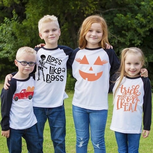 Halloween Long Sleeve Graphic Tees Only $13.99