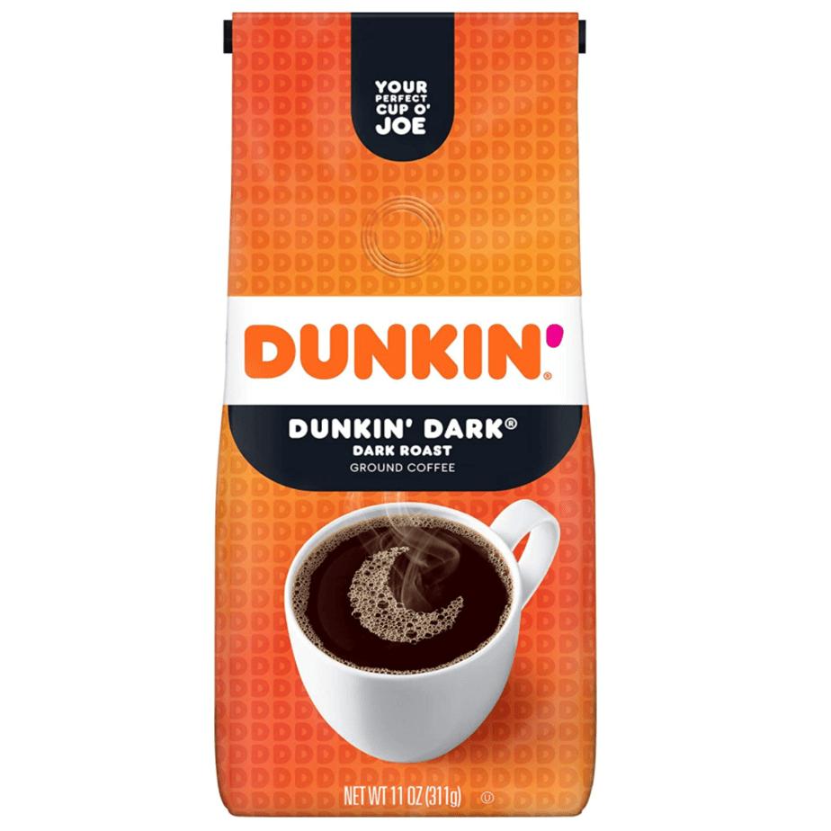 Dunkin' Donuts Dunkin' Dark Ground Coffee, Dark Roast, 11 Ounce Only .74
