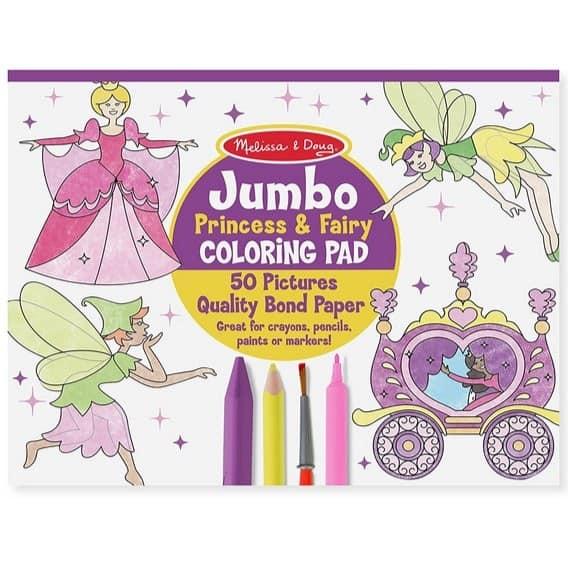 Melissa & Doug Princess & Fairy Jumbo Coloring Pad Only $4.99