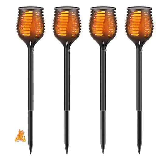 4-Pack Aptoyu Solar Lights Outdoor Waterproof Flickering Flames Torch Lights $44.99 (Was $83.99)