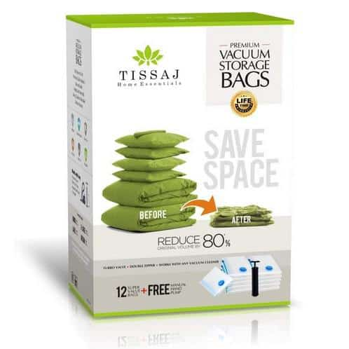 Vacuum Space Saver Storage Bags 12 Pack Bundle Only $22.49 **Today Only**