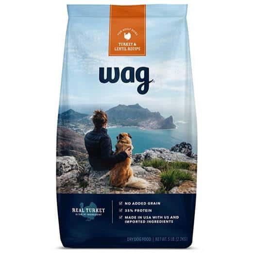 WAG Amazon Brand Dry Dog Food 5lb Bag Only $5.85