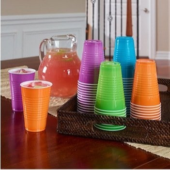 Hefty Party On Plastic Party Cups Assorted Colors 100-Count Only $5.88