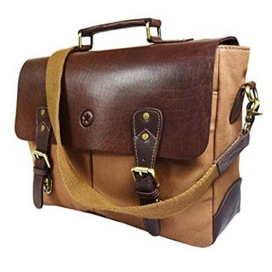 Up to 75% Off Leather Laptop Messenger Bags by Aaron Leather **Today Only**