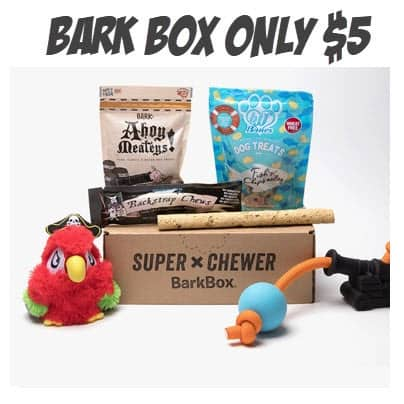 Snag a Bark Box For Only $5.00 Shipped