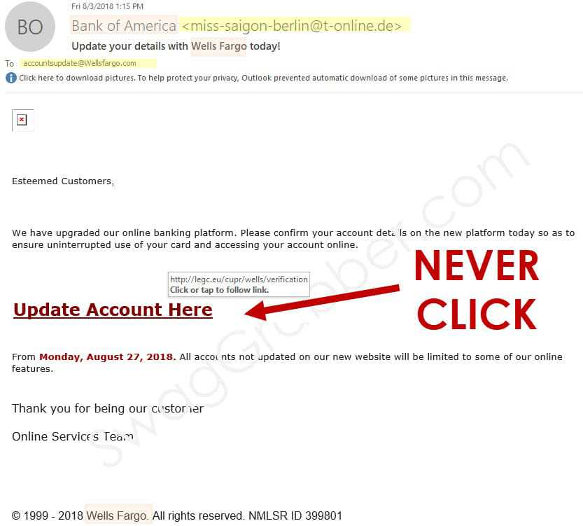 How to Spot Spam Phishing Emails
