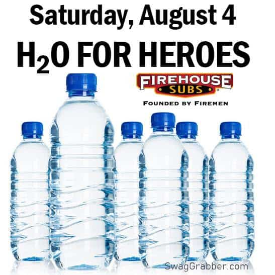 Firehouse Subs: Donate Water, Get a FREE Medium Sub on 8/4