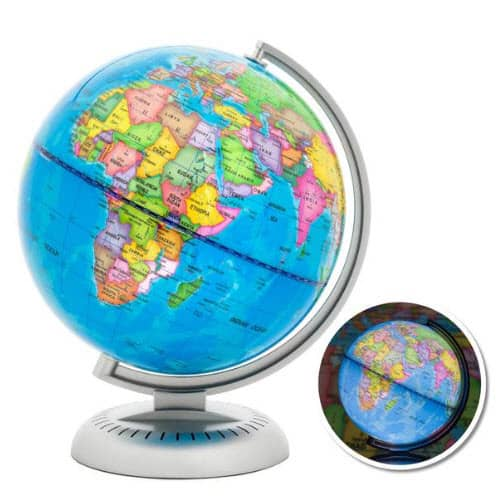 8in Illuminated Up World Globe ONLY $20 Shipped (Was $60)