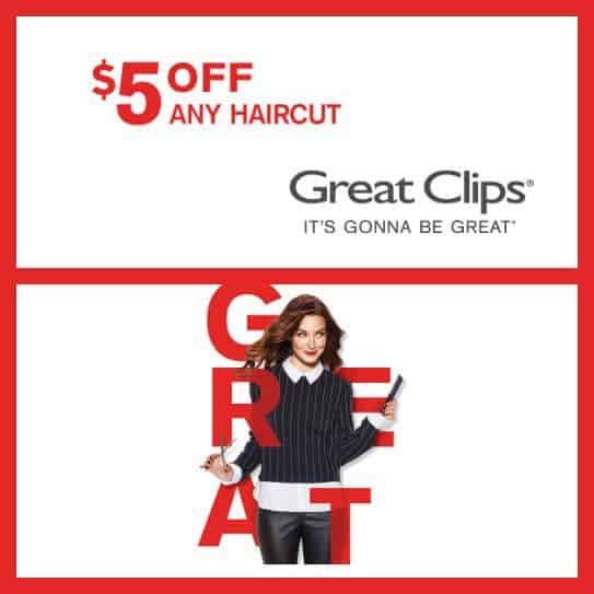 Great Clips Printable Coupon: Extra $5 Off Any Haircut