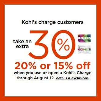 Kohl's Card Holders 30% Off Code + $10 off $50 Codes + Free Shipping + Tax Free