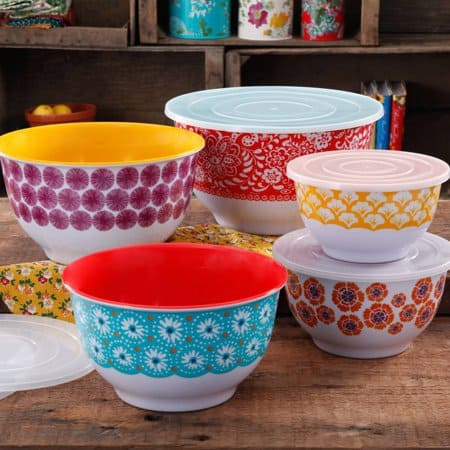 The Pioneer Woman 10-Piece Nesting Mixing Bowl Set $29 (Was $49)