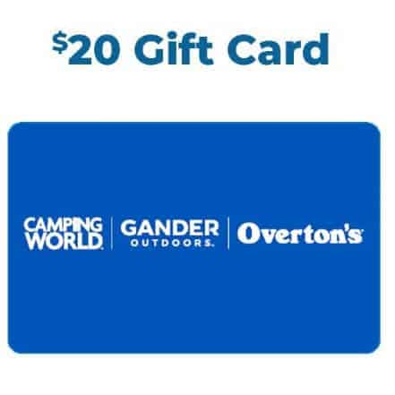 FREE $20 Camping World and Gander's Gift Cards