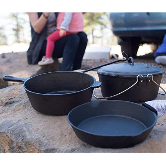 Stansport Cast Iron 6 Piece Cookware Set Only $28.00