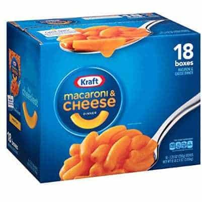 Kraft Macaroni & Cheese Dinner, Original, 7.25 oz, 18 Pack Only $9.99