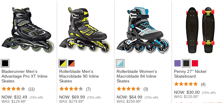 Dick's Sporting Goods: 75% Off Select Rollerblades & Skateboards *HOT*