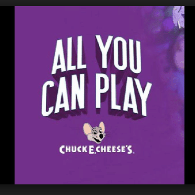 Chuck E Cheese: 20 Minutes of Unlimited Play w/ Food Purchase