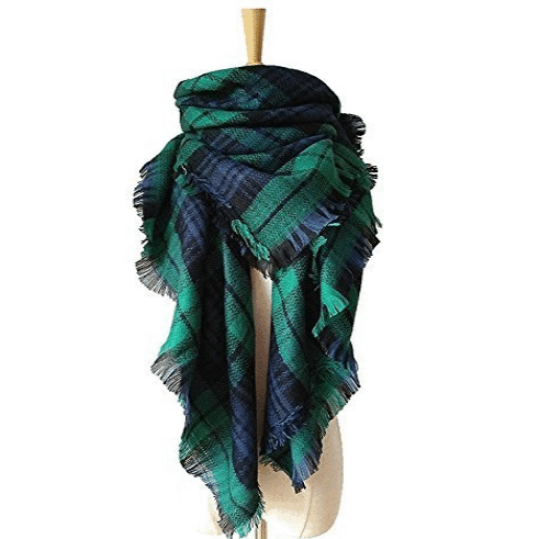 Womens Blanket Scarf Plaid Tartan Shawl Only $11.98