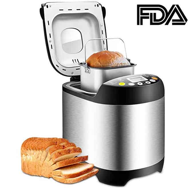 Breadmaker Stainless Steel Automatic Bread Machine Only $62.99