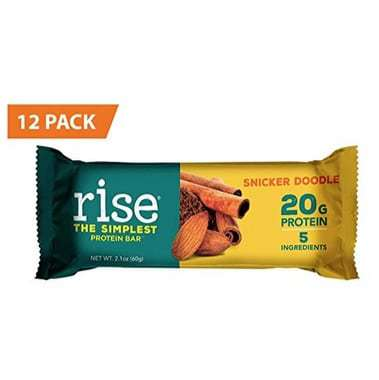 Rise Bar Non-GMO, Gluten Free, Soy Free, Whey Protein Bar 12-Count Only $11.62