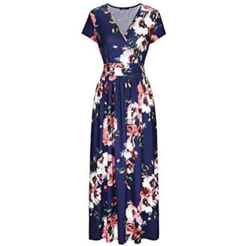 OUGES Women's Floral Pocket Maxi Dress Only $20.99 + MORE **Today Only**
