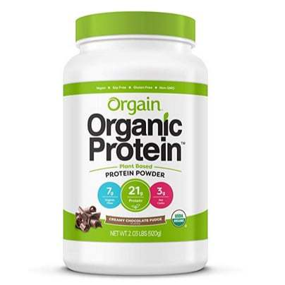 Orgain Organic Plant Based Protein Powder, Creamy Chocolate Fudge, Only $16.85