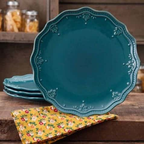 The Pioneer Woman Farmhouse Lace Dinner Plate Set 4-Pack Only $11.52