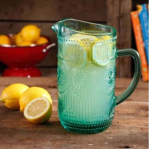 The Pioneer Woman Adeline Glass Pitcher Only $6.36 **3 Colors Available**