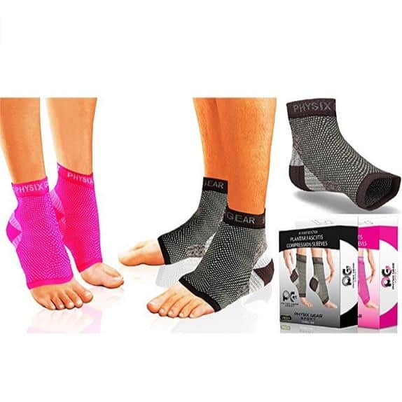 Physix Gear Plantar Fasciitis Compression Socks with Arch Support for Men & Women Only $8.79