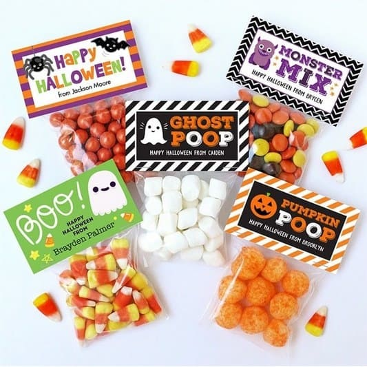 Personalized Halloween Labels & Bags Only $7.99