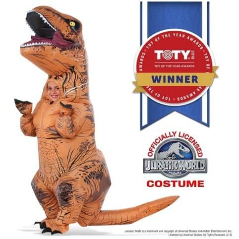 Rubie's Jurassic World T-Rex Inflatable Child's Costume $33.59 (Was $59.99)