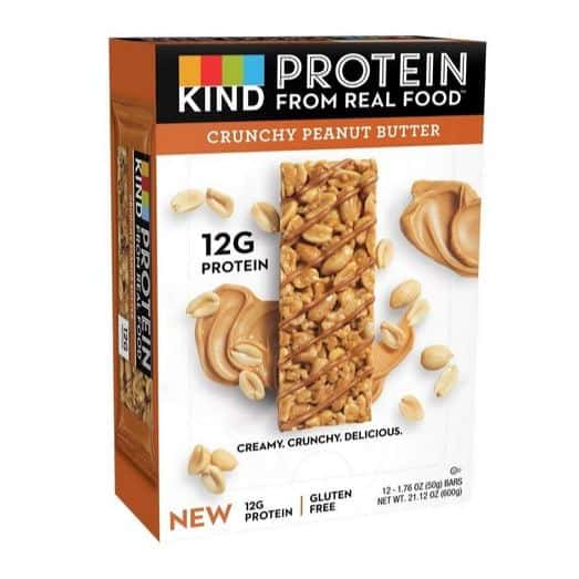 KIND Crunchy Peanut Butter Protein Bars 12-Count Only $13.47