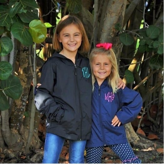 Monogrammed Rain/Wind Jackets Only $24.99 **Youth & Adults**