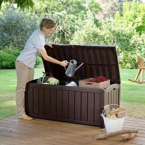 Keter Glenwood 101 Gal Deck Storage Box $69.74
