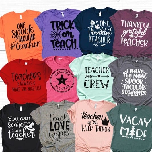 Holiday Teacher Tees Only $13.99