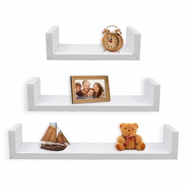 Up to 57% Off Shelves & Frames ~ Set of 3 Floating U Shelves Only $9.99 **Today Only**