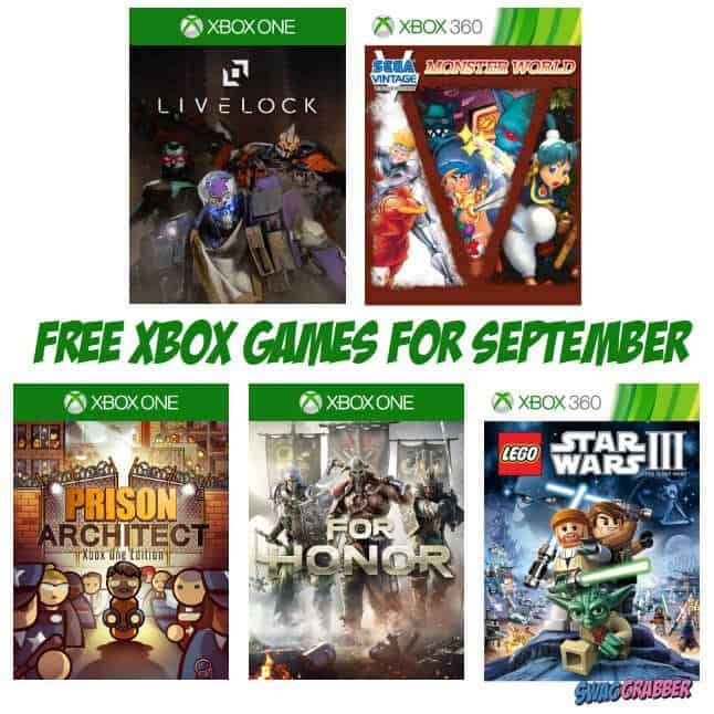 FREE Xbox Games Available for September