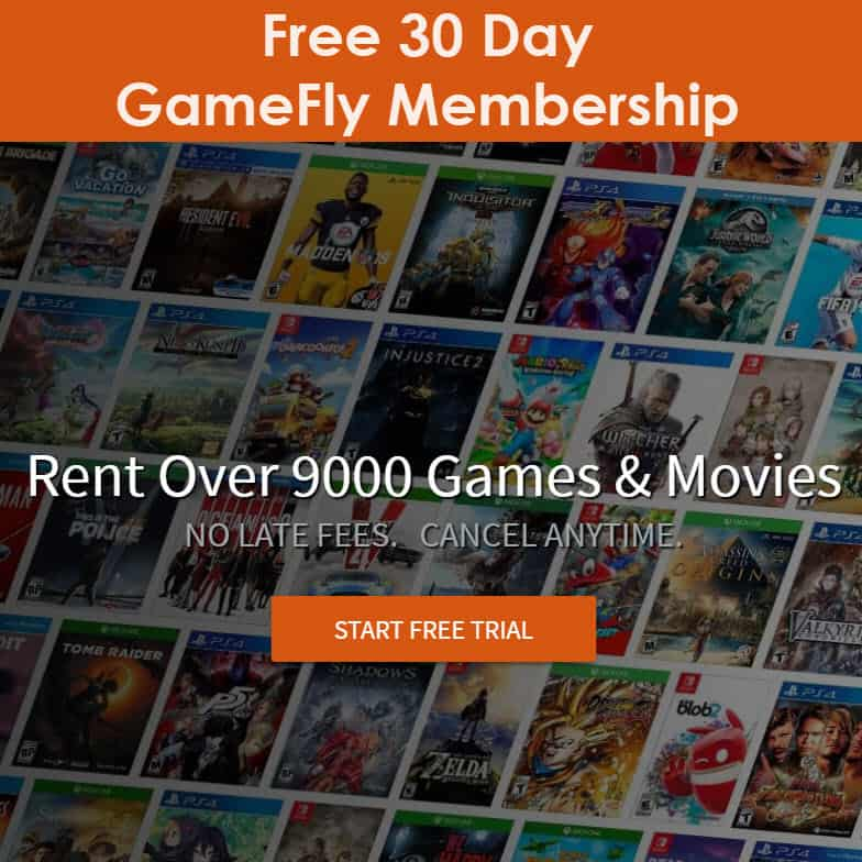FREE Video Game & Movie Rentals from Gamefly