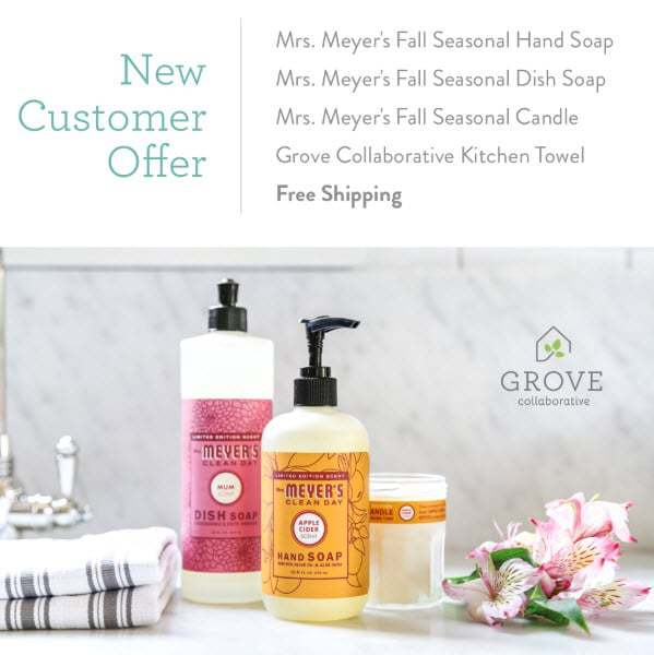 Black Friday Deal: FREE Mrs. Meyers Fall Collection Gift Set + Free Shipping