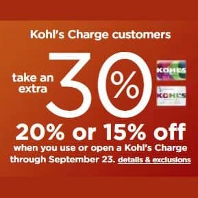 Kohls' Stacking Codes - 30% Off + $10 off $50 Codes + Free Shipping **HOT**