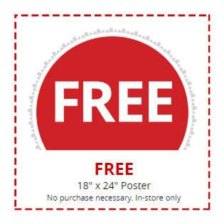 Free 18x24 Poster at Office Depot ($15.99 Value)